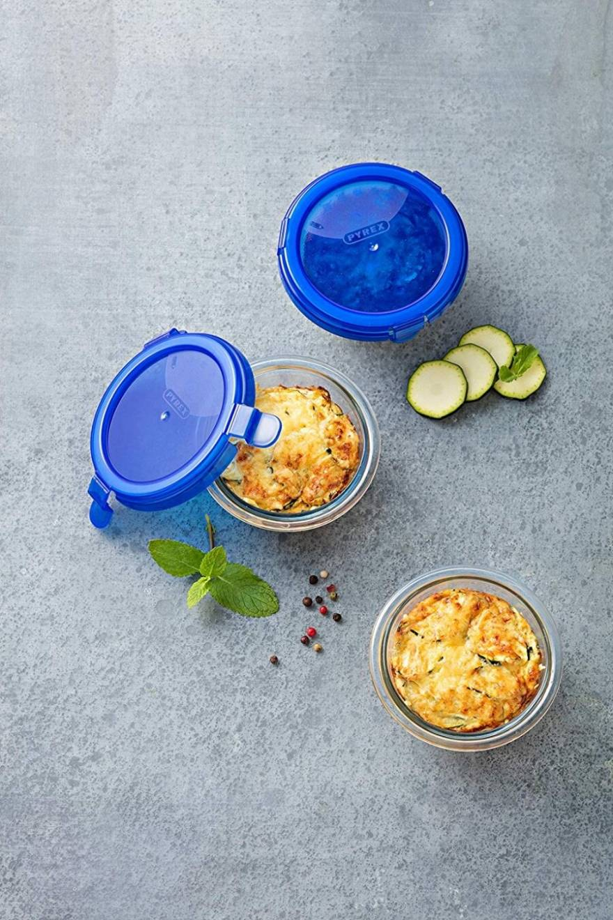 Pyrex Cook & Go Round Glass Box with Lid 0.2 L/Diameter 11 cm