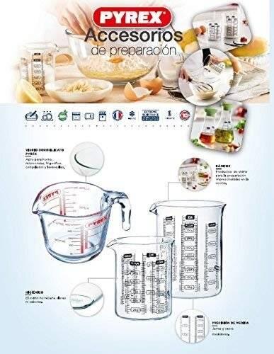 Pyrex High resistance Classic Borosilicate Glass Measure jug, 1ltr