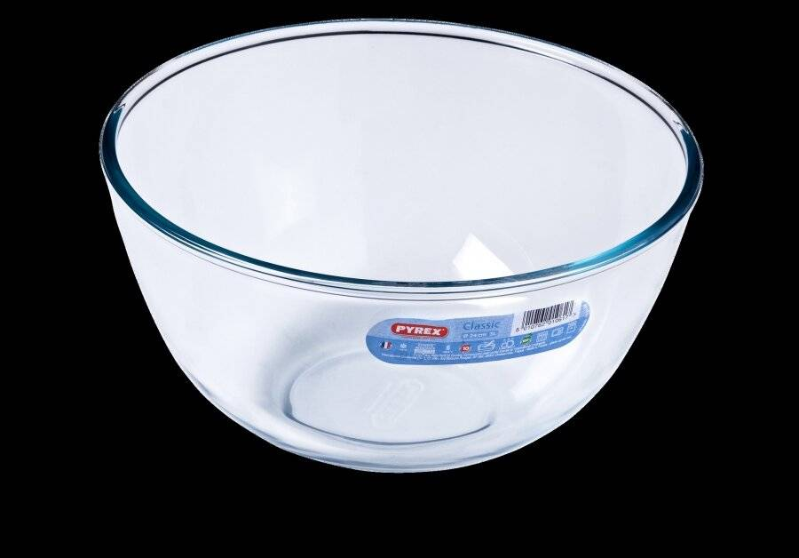 Pyrex High Resistance Classic Glass Mixing Bowl - 3 Ltr