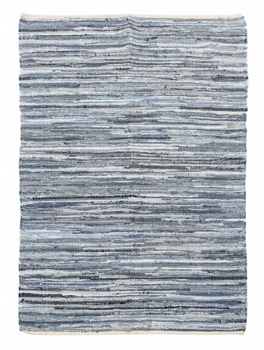 Recycled Cotton Handmade Denim Chindi Floor Rug, 120 x 170 cm