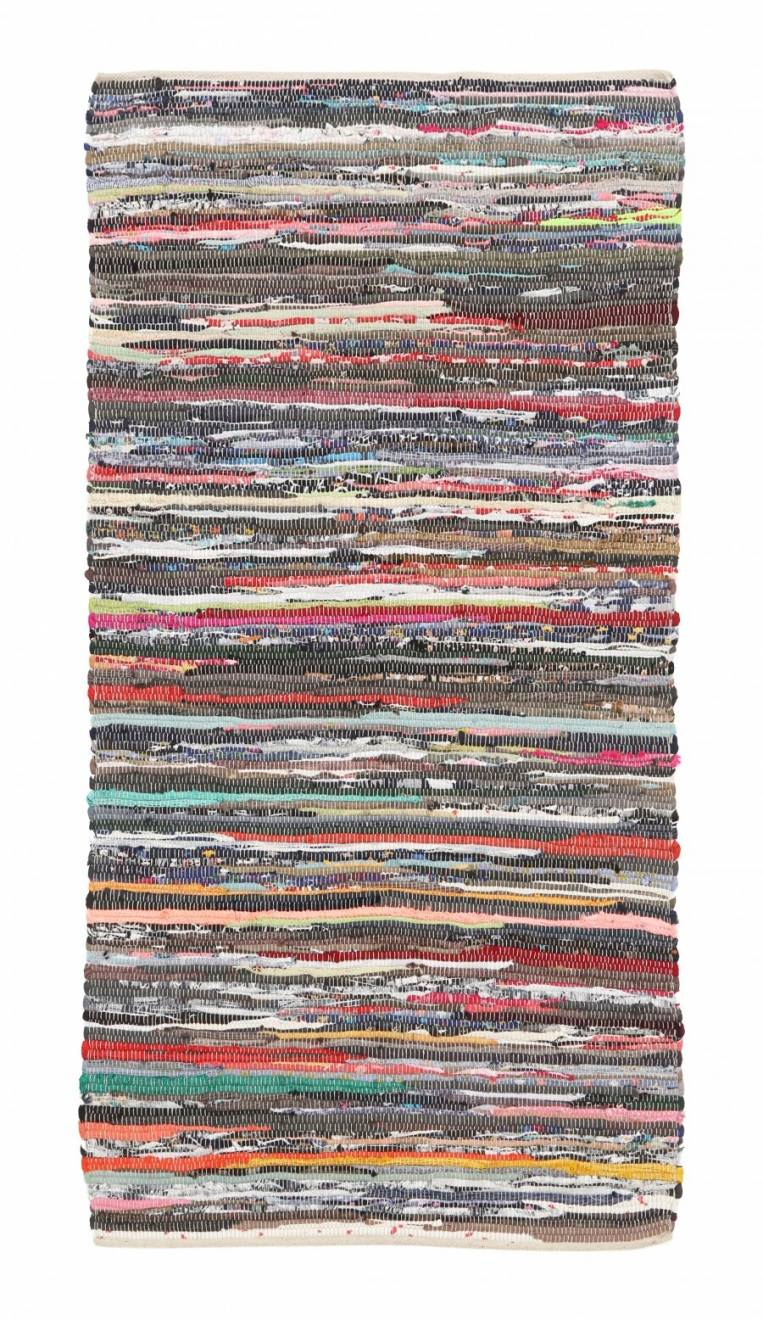 Recycled Cotton Handmade Multi Coloured  Chindi Floor Rug -70 x 140 cm