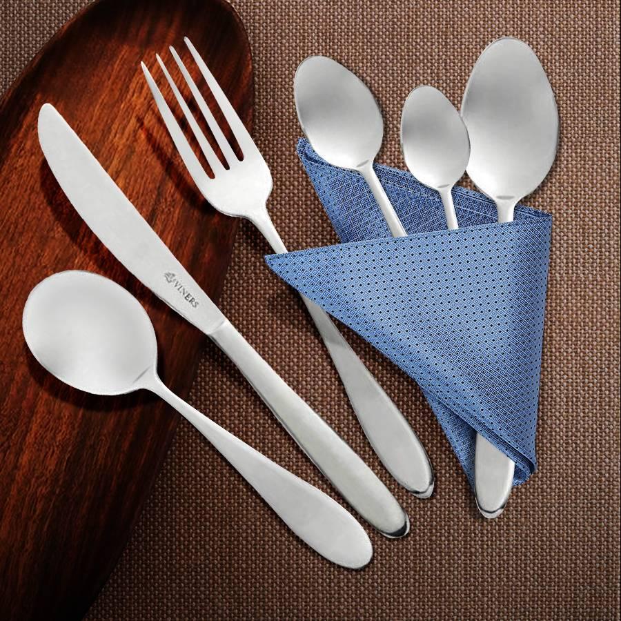Viners Tabac 16 PCs 18.0 Cutlery Set - 4 Free Tea & Soup Spoons