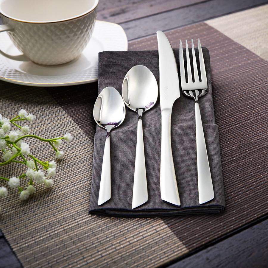Viners Flair 24 PCs Stainless Steel Cutlery Set, 25 Year Guarantee