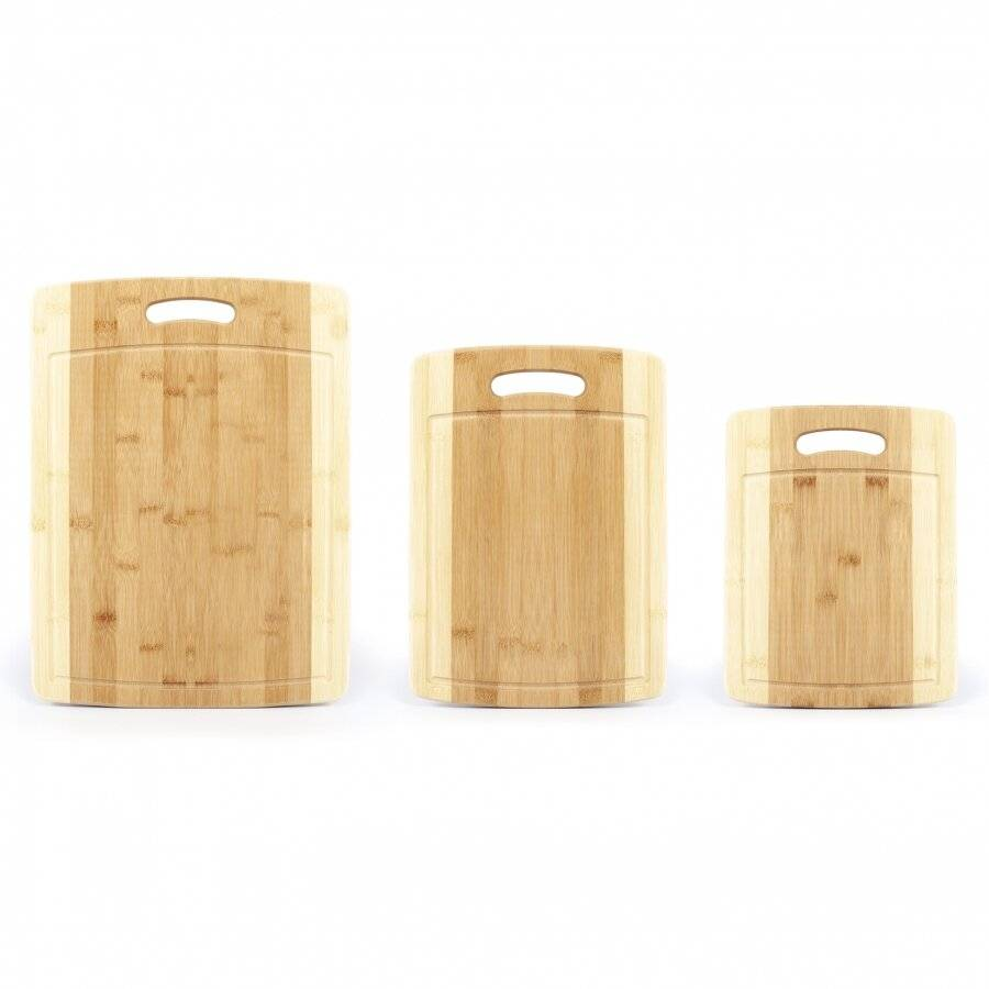 Set of 3 organic Bamboo Chopping, Cutting Boards