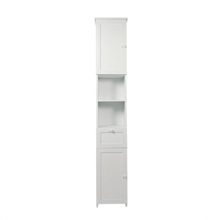 Slim Shaker Tall Boy Free Standing Bathroom Storage Cabinet