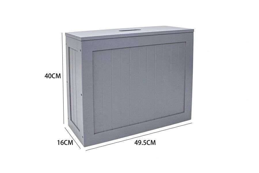 SlimLine MDF Multi Purpose Bathroom Storage Unit, 49.5 x 16 x 40 cm