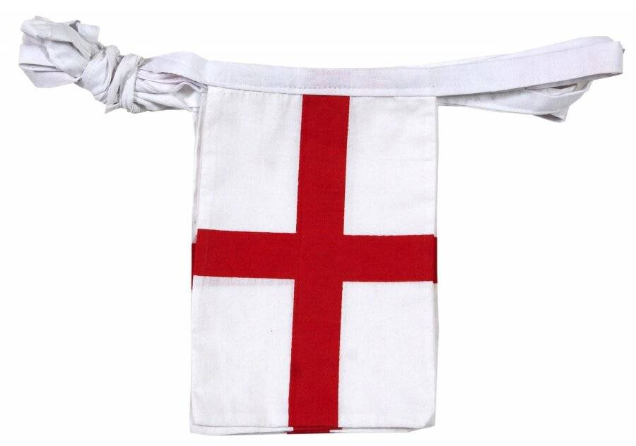 St.George's Flag Double Sided Cotton Patriotic Decorative Bunting