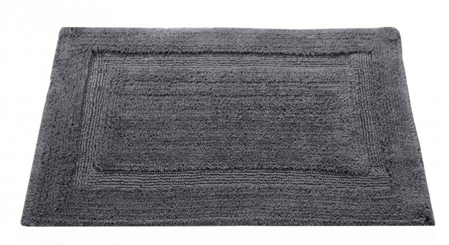 Super Absorbent Heavy Pile OxFord Non-Slip Bath Mat - Smoke