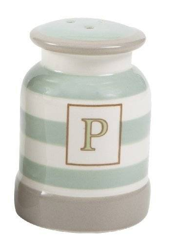 TandG Cream and Country Pepper Shaker Mint Stripe