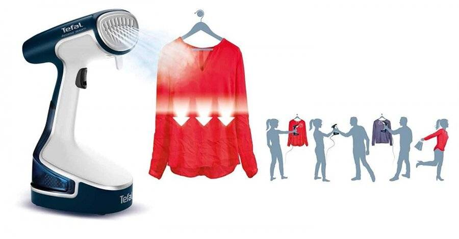 Tefal Access Steam DR8085 Handheld Clothes Garment Steamer-1500 watt