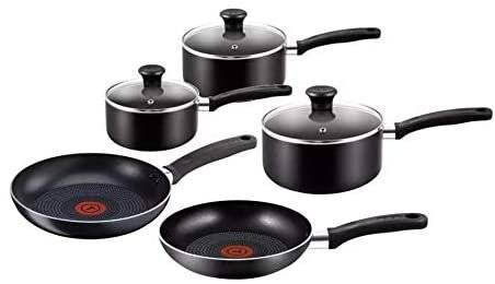 Tefal B368S544 5Pcs Gourmet Non-Stick Cookware Set - Black