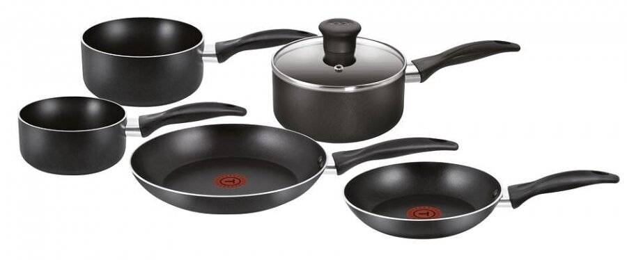 Tefal Easy Care 5 Piece Non Stick Kitchen Cookware Frying Pan Set