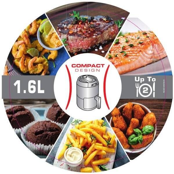 TEFAL Easy Fry Compact  Digital Air Fryer - 0.6kg / 2 Portions