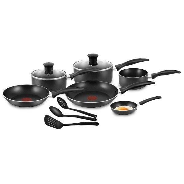 Tefal Easycare 9-Piece Nonstick Cookware Saucepan Frypan Set