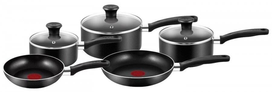Tefal Essential Non-Stick  5 Pieces Cookware Saucepan Set