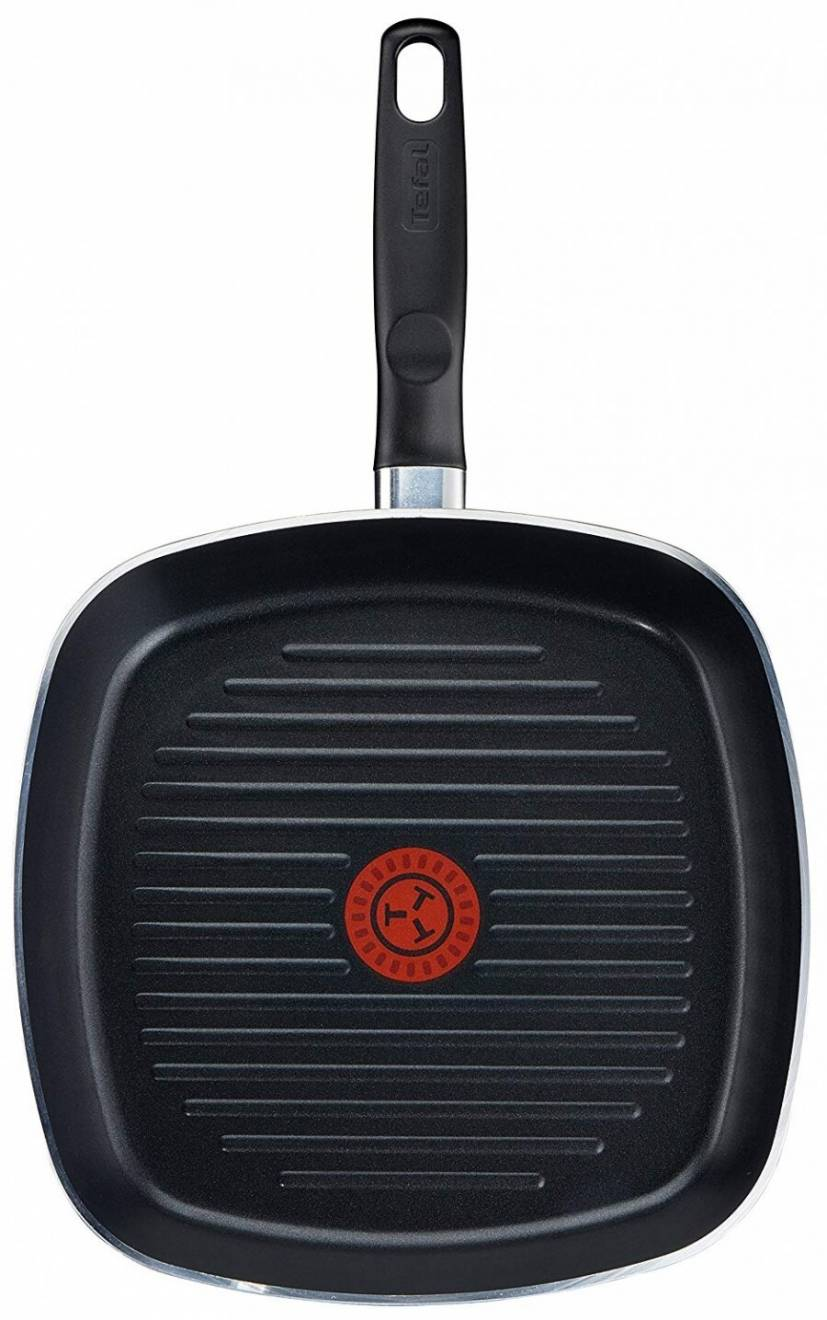 Tefal Extra Thermo - Spot  Non Stick Grill Pan, 26 cm - Black