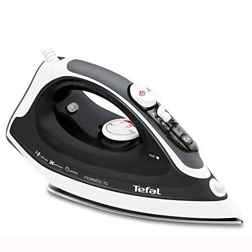 Tefal FV3775 Ceramic Soleplate Steam Iron, 2300 W, Black