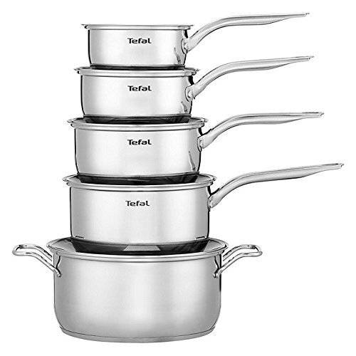 Tefal Intuition Stainless Steel 5 Piece Set, Induction Compatible