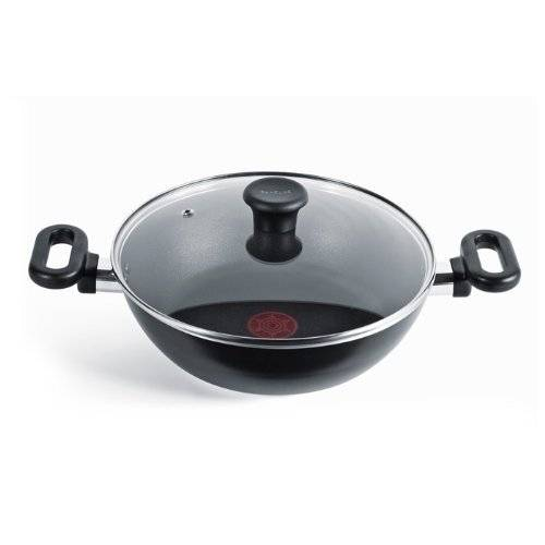 Tefal Madras Collection Nonstick 26 cm Kadai With Lid