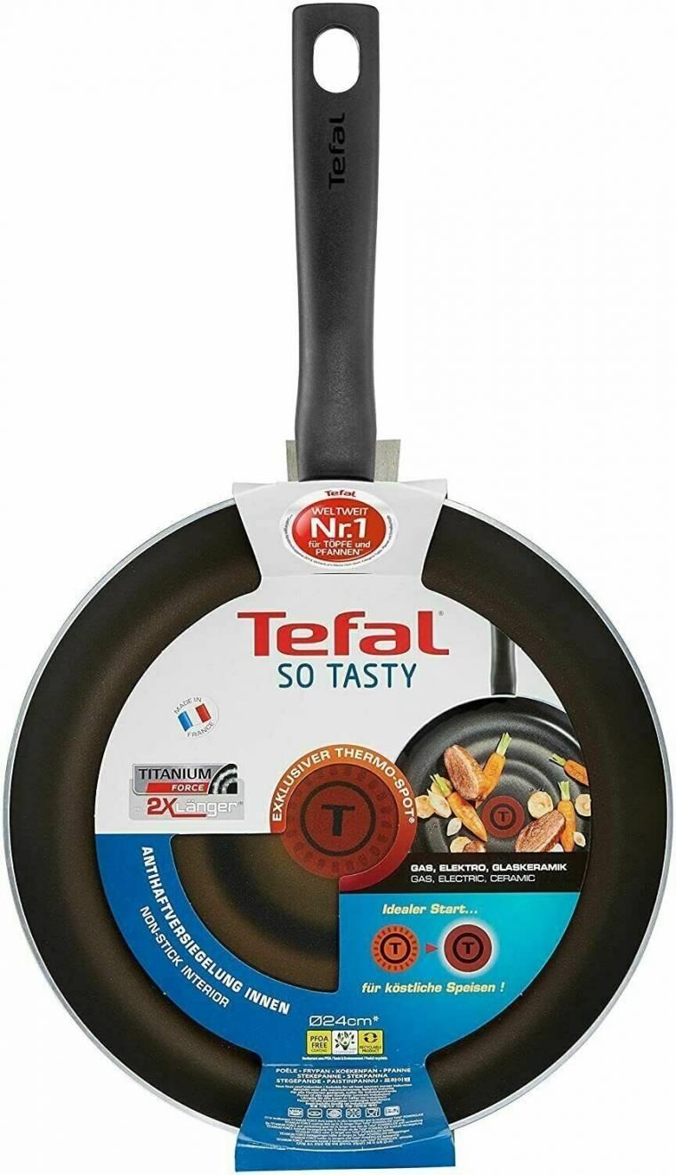 Tefal So Tasty Nonstick Frying Pan, 24 cm - Black