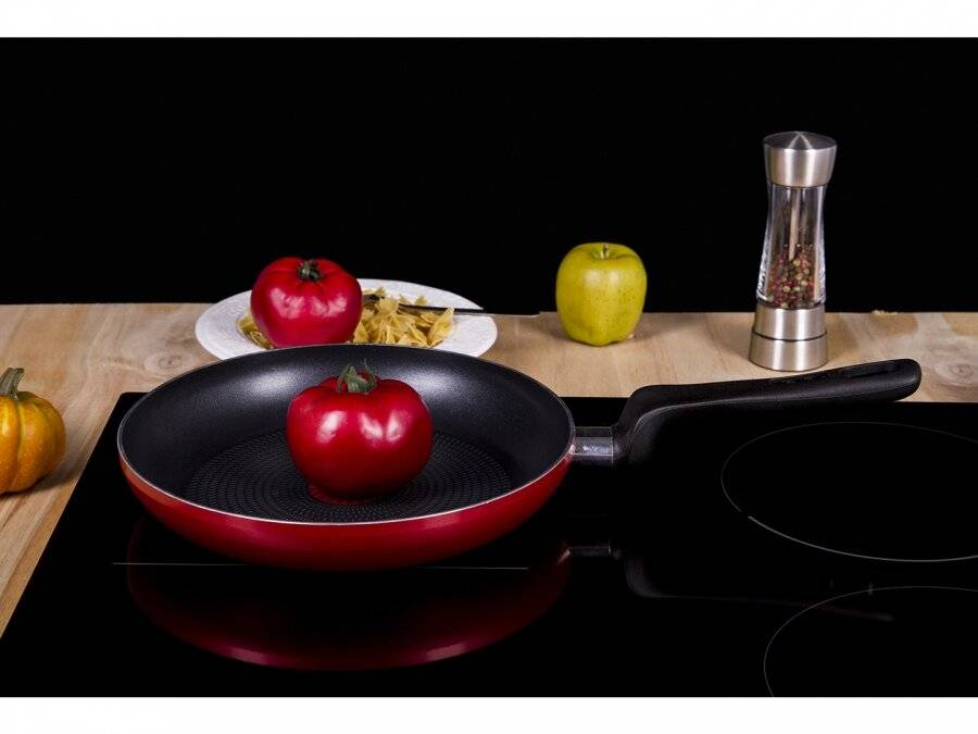 Tefal Star Collection Non Stick Aluminium Fry Pan, Red - 24 Cm