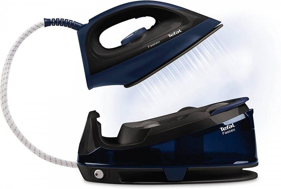 TEFAL SV6050G0 Fasteo Steam Generator Iron 2200W 1.2L - Black/Blue