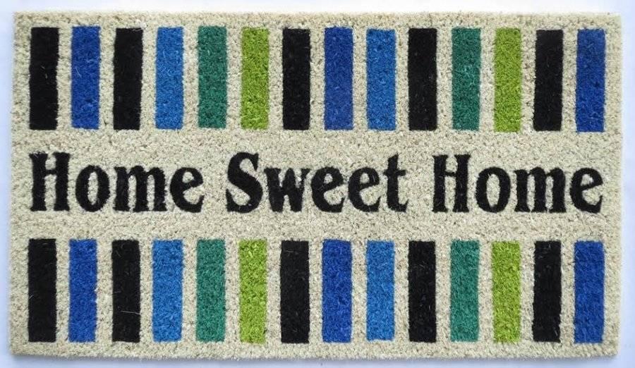"""Tough Coir PVC Entrance""""Home Sweet Home""""  Door Mat"""