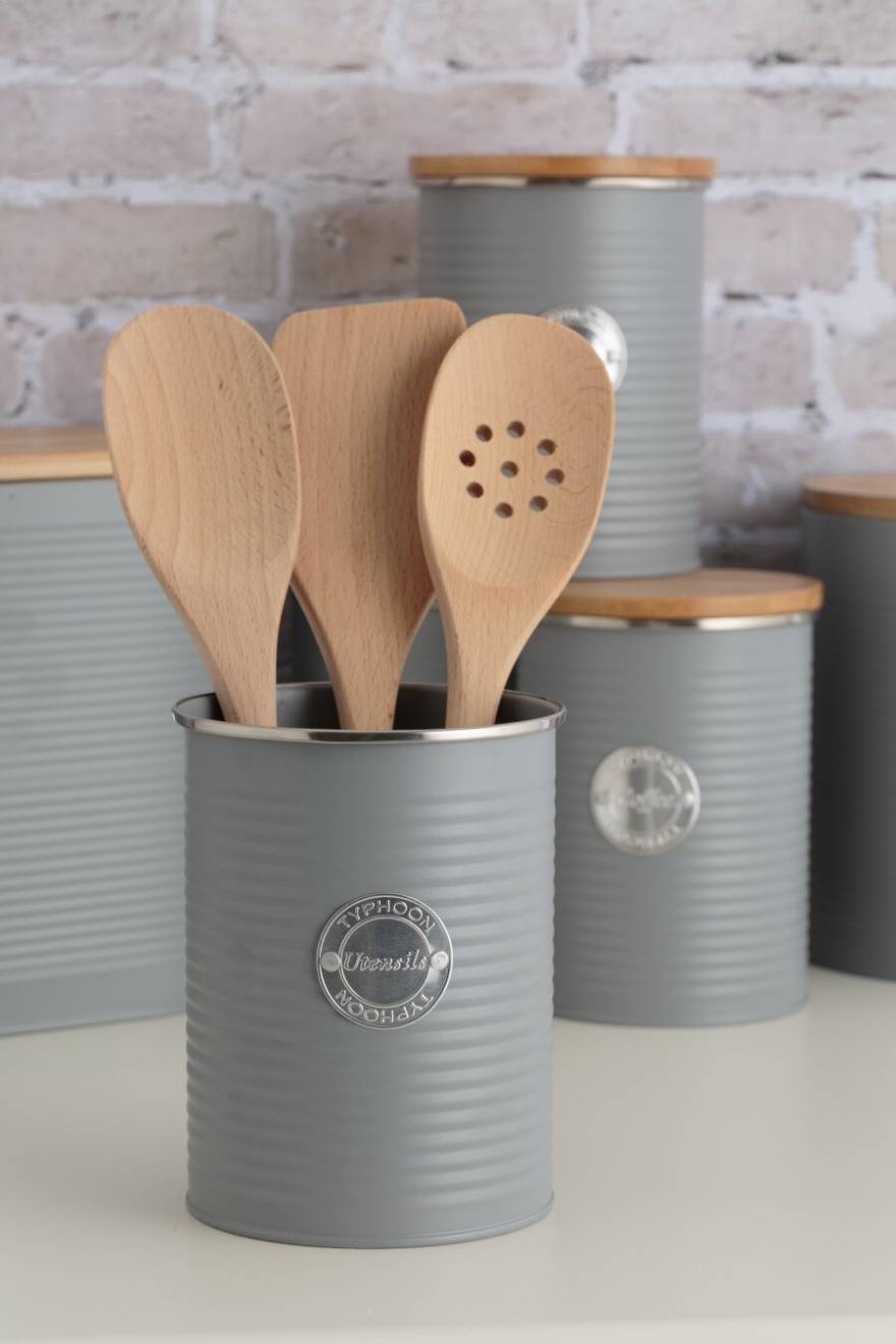 Typhoon Living Utensil Storage Pot, Grey, 15 x 12.5 cm
