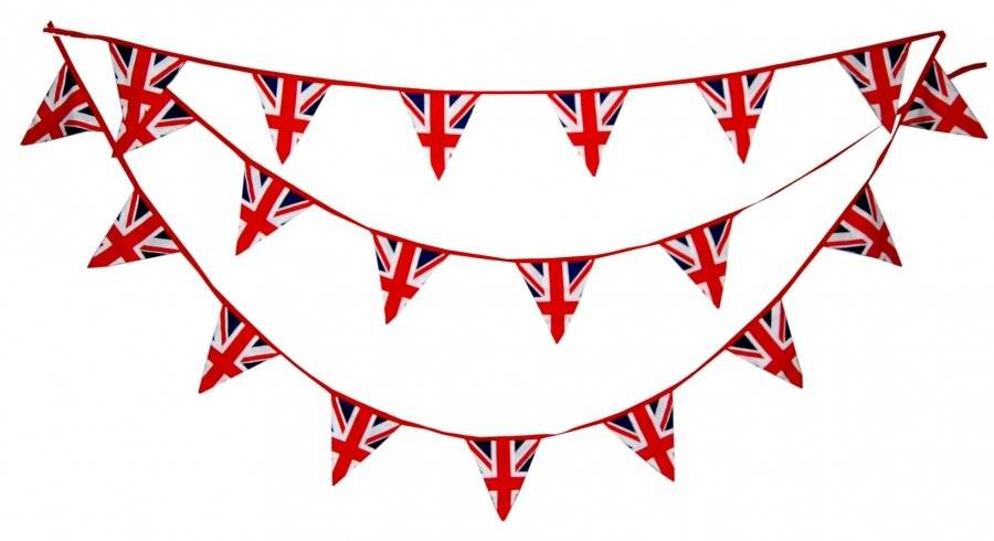 Union Jack Cotton Double Sided Patriotic Festival Decorative Bunting