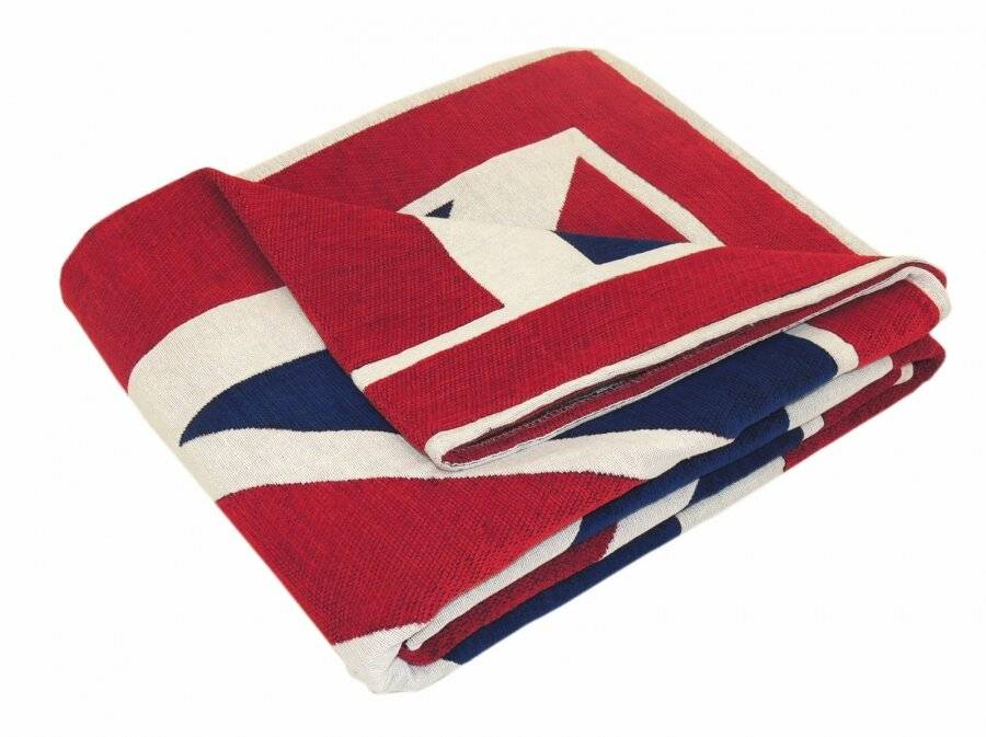 Union Jack Handwoven Cotton Single Sofa or Armchair Throw