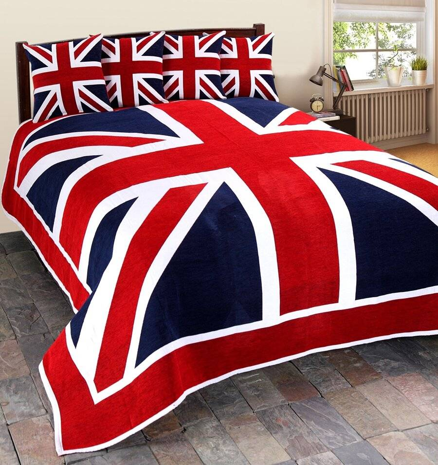 Union Jack Sofa Large Double bed or 2 seater Throw -Red,Blue & White