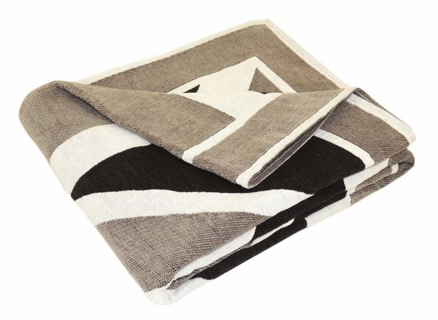 Union Jack Throw For, Sofa or Super King Size Bed - Grey/Black & White
