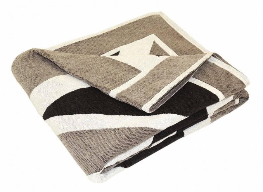 Union Jack Sofa Super King Size Bed or 2 Seater Throw -Grey,Black & White