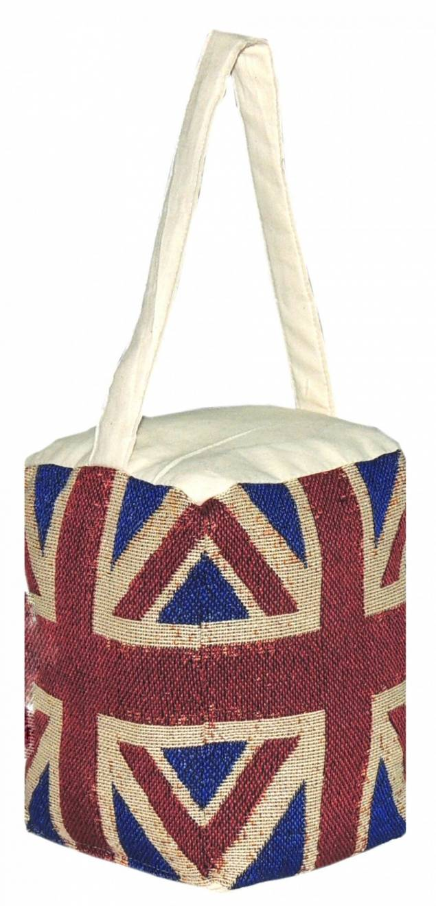 Union Jack Vintage Decorative Fabric Doorstop- Red Blue &Cream