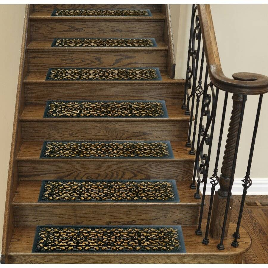 Victorian Wrought Iron Effect Non Slip Panama Rubber Step Doormat