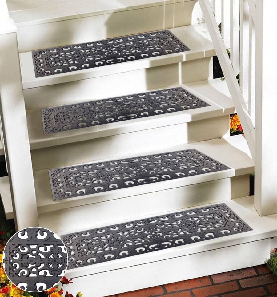 Victorian Wrought Iron Effect Outdoor/Indoor Non Slip Rubber Step Mat