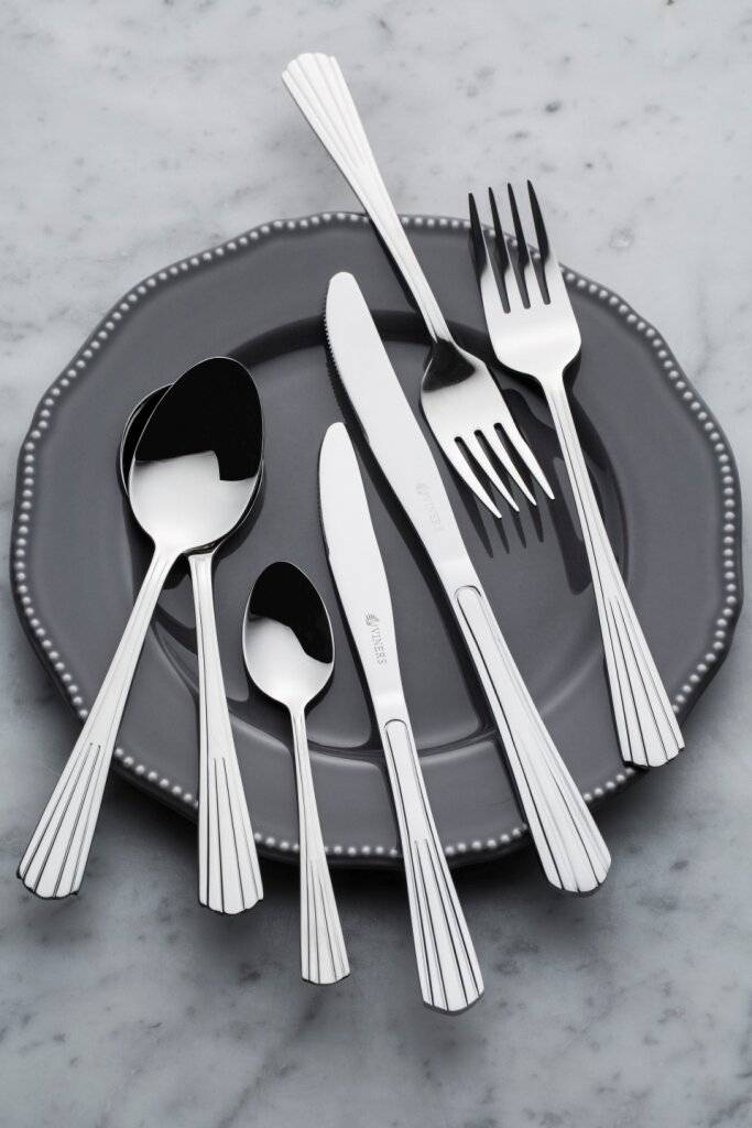 Viners Charleston 18.10 Stainless Steel 44 Piece Cutlery Set , Gift Boxed
