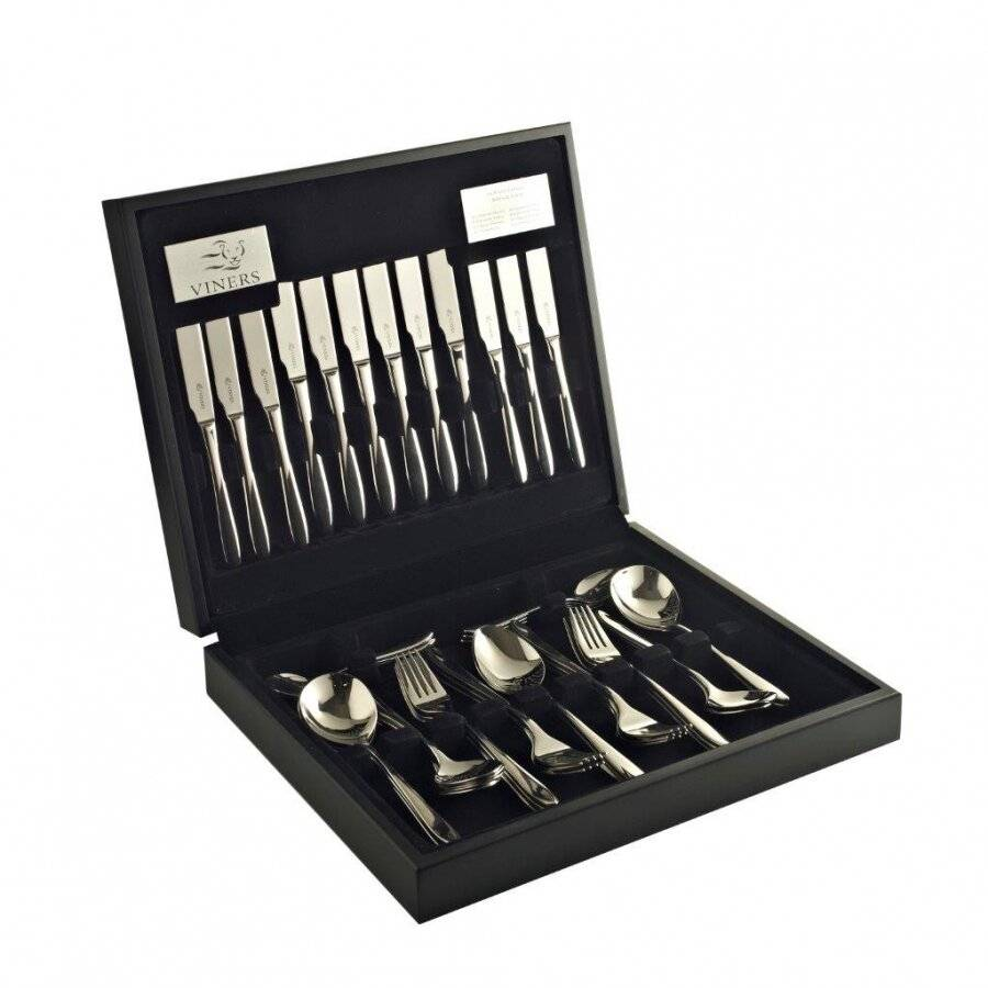 Viners Eden 44 PCs Rust Resistant Stainless Steel Canteen Cutlery Set
