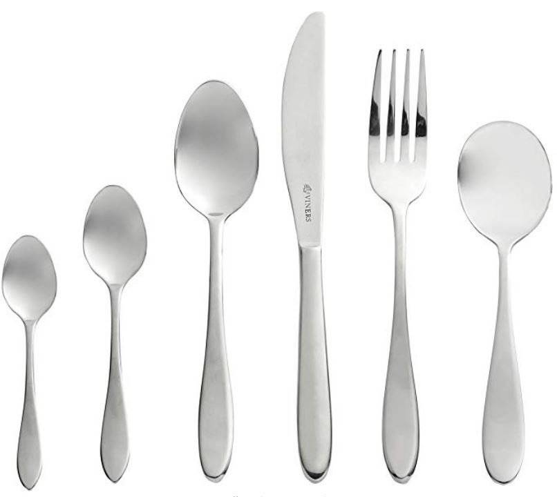Viners Tabac 16 Pcs Stainless Steel Cutlery Set- 4 Free Tea & Soup Spoons