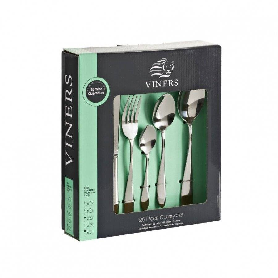 Viners Tabac 26 PCs Stainless Steel Cutlery Set - Gift Boxed