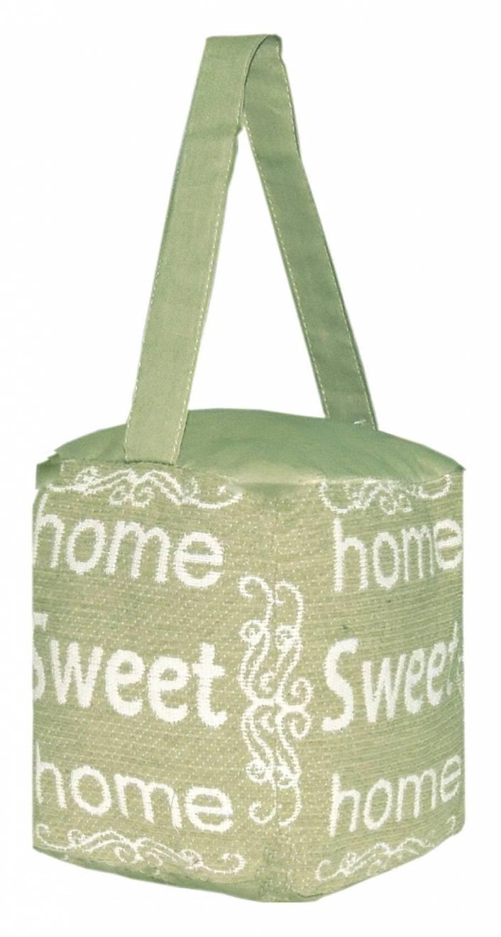 Vintage Decorative Fabric Doorstop - Home Sweet Home - Sage