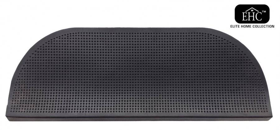 Weather Resistant Indoor & Outdoor Stair Rubber Mat - Black
