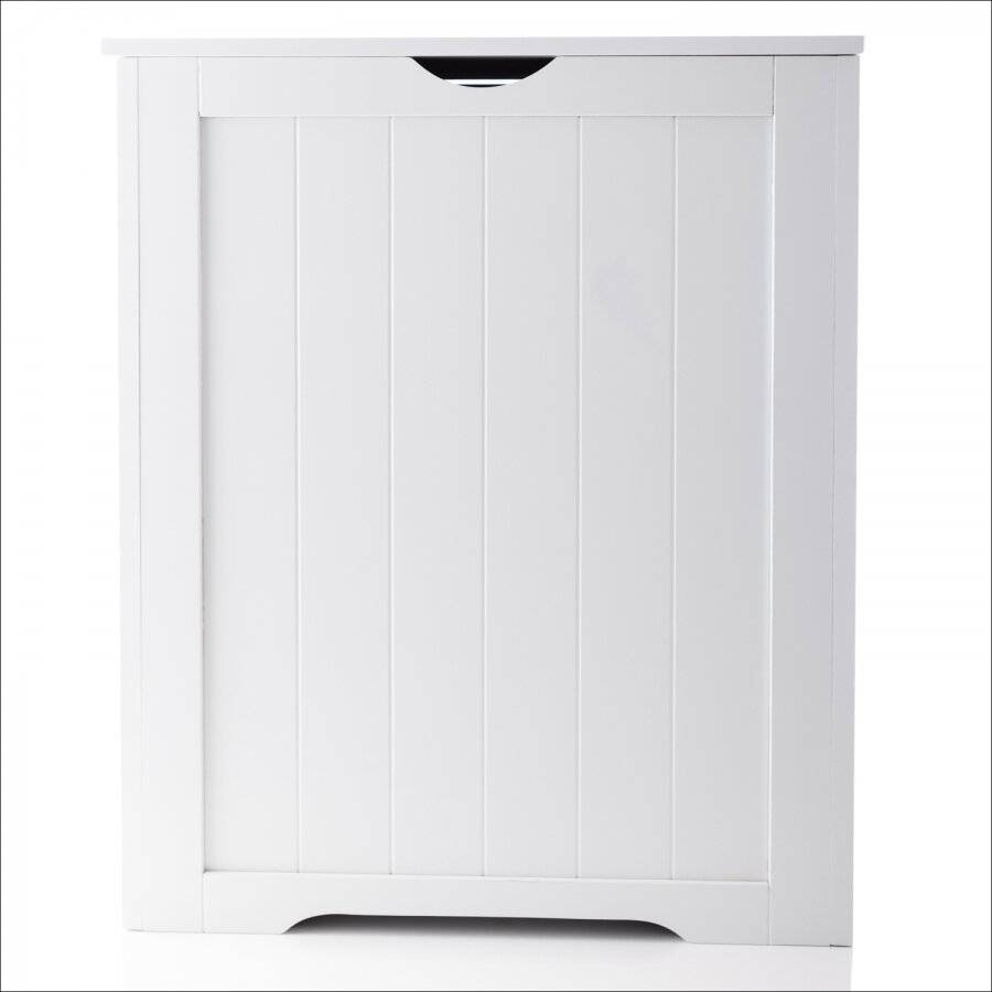 White Shaker Large Laundry Bin Bathroom Storage, 50 x 30 x 60 (H) cm