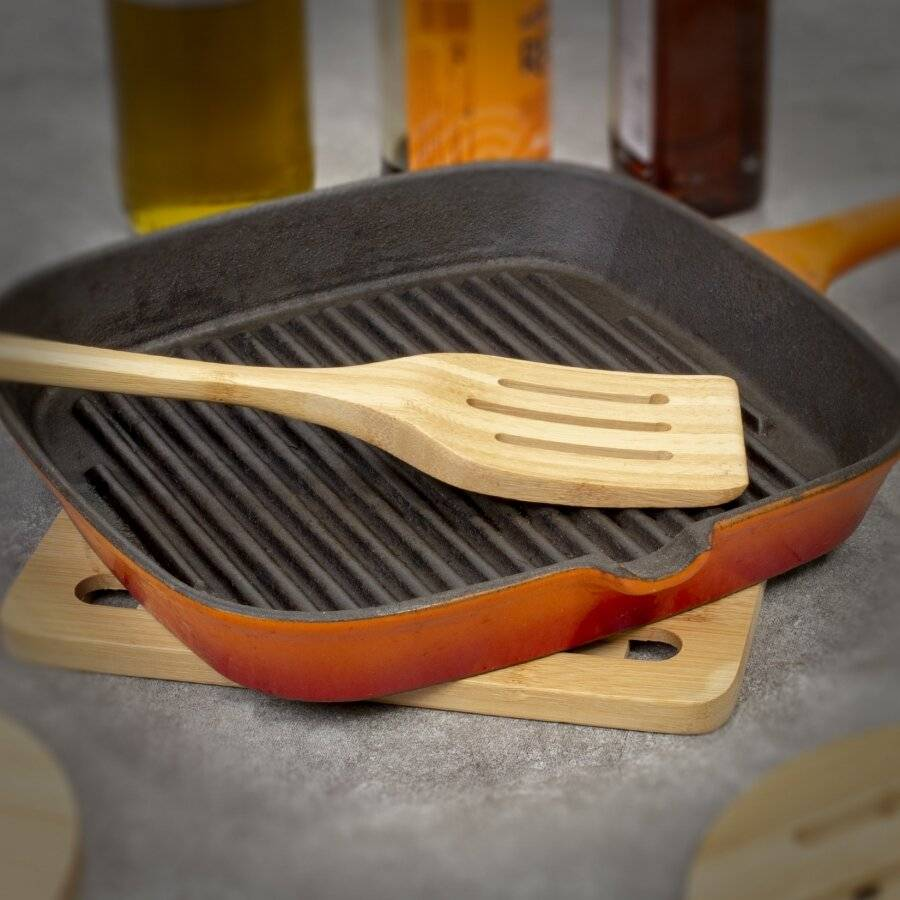 Pack of 4 Heat-Resistant Counter Protector Bamboo Trivet