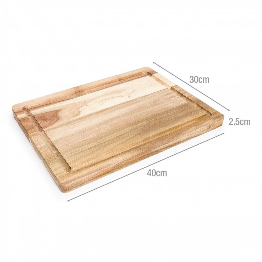 Woodluv Acacia Wood Cutting & Chopping Board With Grooves