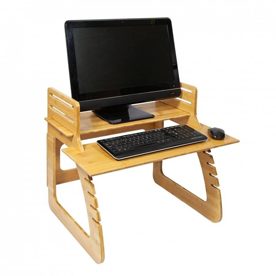 Adjustable Stand Up Desk Worktop Station, Riser for Computer,Laptop