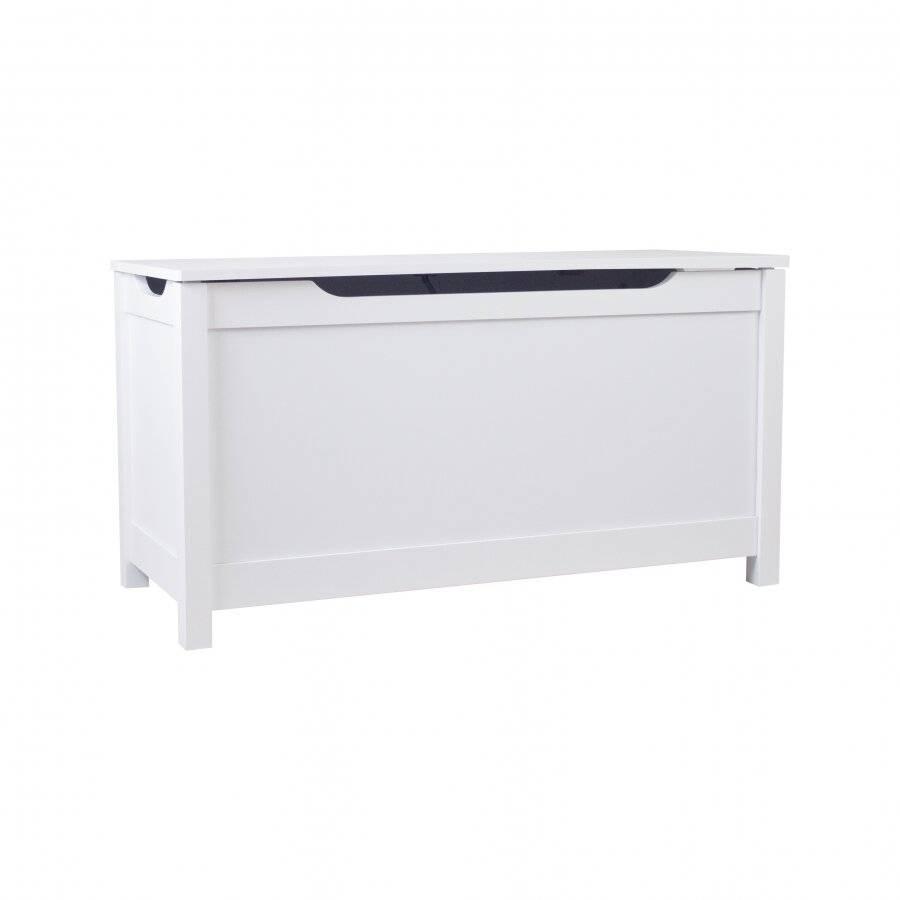 Woodluv Admirable MDF Ottoman Storage Toy chest - White