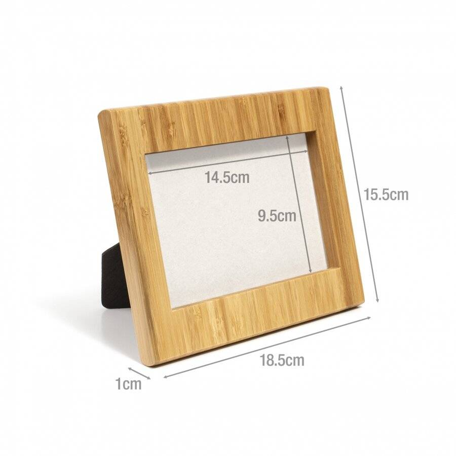 Bamboo Photo Frame for Portrait and Landscape Photographs With Rear Stand