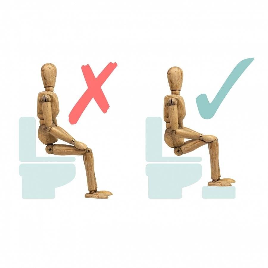 Natural Bamboo Wood Durable Squatting Step Toilet Stool