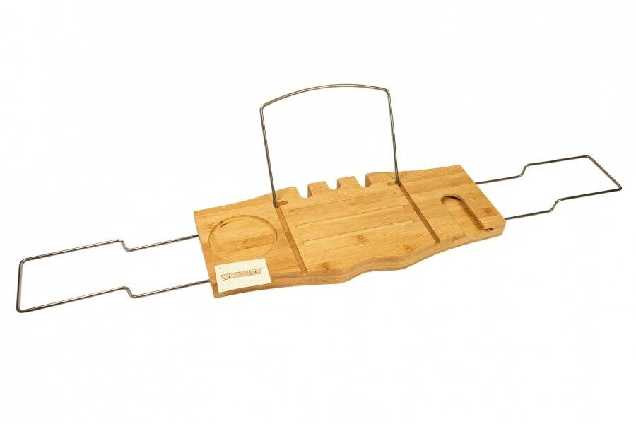 Woodluv  Bamboo Wood Luxury Bathtub Caddy - Expendable